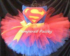 Superman+inspired+tutu+dress++Superman+girl+by+PamperedPaisley,+$39.95