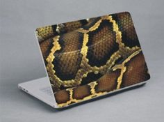 Close up of coiled snake Laptop Skin, Close Up, Snake, Snakes