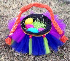 Easter Baskets. Handmade Frozen Inspired Princess Anna Of Aranedelle Easter Basket. Character Easter Basket. Tutu Easter Basket.