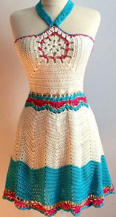 Crochet Woman, Love Crochet, Beautiful Crochet, Crochet Crafts, Crochet Yarn, Crochet Top, Crochet Beach Dress, Crochet Skirts, Crochet Clothes