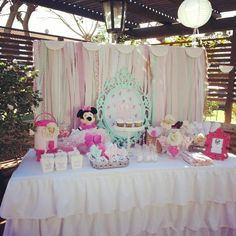 shabby chic baby shower designs | Shabby Chic Minnie Mouse Party Planning Ideas Supplies Idea Cupcake