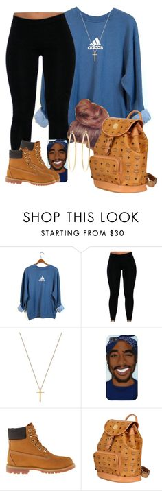 """Blue and brown go se well together"" by iamamir ❤ liked on Polyvore featuring adidas, Gucci, Timberland, MCM and Brooks Brothers"