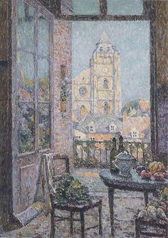 Henri Le Sidaner. Table by the Window, 1920