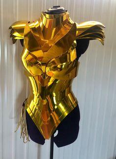 Golden armor 1984 | Etsy Wonder Woman Art, Wonder Woman Cosplay, Cosplay Armor, Cosplay Costumes, Hero Costumes, Cosplay Outfits, Gal Gadot, Gold Armor, Female Armor
