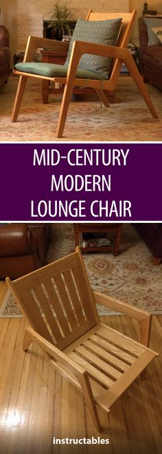 Mid-Century Modern Lounge Chair #woodworking #furniture