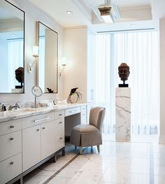 Powell and Bonnell Design Inc.  Simple yet elegant and luxurious master bathroom. Full of natural light.