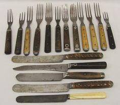 Civil War era flatware