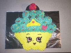 Shopkins Cupcake Queen birthday cake