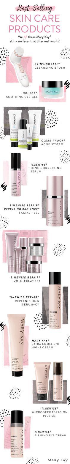 A few of our faves! These skin care systems, exfoliators and serums are best-sellers for a reason — they work! | Mary Kay