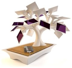 Solar power charging station ~ Electree (299 EUR), Designed by Vivien Muller   |   Charging Stations Lead Tidiness Battle ~ Keep your cell phone, camera and other electronics handy and juiced up without a tangled mess of cords by Pangaea (Interior Designer)   |   Houzz   |   2012
