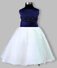 Girls white and navy blue tea length party dress – Posh Tots Blue And White Party Dresses, Tea Length Skirt, White Girls, Special Occasion Dresses, Bodice, Tulle, Chiffon, Navy Blue, Formal Dresses
