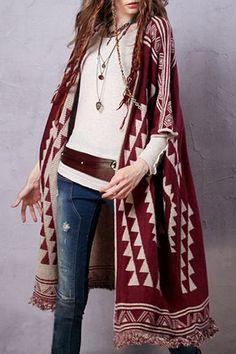 Half Sleeve Jacquard Longline Cardigan have one kind of like this already.
