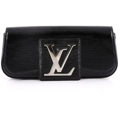 Pre-Owned Louis Vuitton Sobe Clutch Electric Epi Leather (36,795 DOP) ❤ liked on Polyvore featuring bags, handbags, clutches, black, oversized purses, colorful handbags, oversized clutches, multi colored purses and colorful clutches