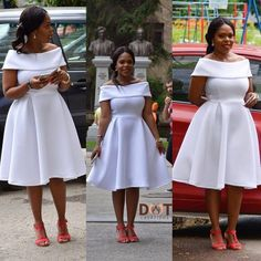 Editor's Pick: All White Outfit Inspirations! – Be Inspired! African Dresses For Kids, African Wear Dresses, African Attire, All White Outfit, White Dress, African Traditional Dresses, African Print Fashion, Designer Dresses, Ankara Styles