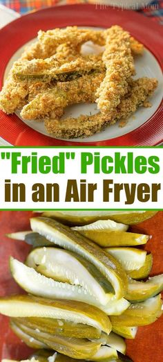 Air fryer fried pickles are the bomb! Paired with dill dip they're the best crun… Air fryer fried pickles are the bomb! Paired with dill dip they're the best crunchy snack or appetizer you will ever try. These are truly addicting! Air Fryer Recipes Appetizers, Air Fryer Oven Recipes, Air Frier Recipes, Air Fryer Dinner Recipes, Air Fryer Recipes Pickles, Air Fryer Recipes Vegetables, Dill Dip, Plats Healthy, Cooks Air Fryer