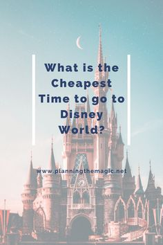 What is the Cheapest Time to go to Disney World? - Planning The Magic Disney World Packing, Disney World Vacation, Disney Vacations, Walt Disney World, Disney World Tips And Tricks, Disney Tips, Disney Parks, Disney On A Budget, Disney Vacation Planning