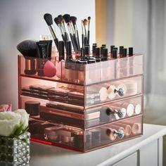 Beautify Large Acrylic Make Up Organiser 4 Tier Cosmetics Display Storage Drawer Makeup Storage Drawers, Makeup Storage Organization, Make Up Stand, Hanging Makeup Organizer, Rangement Makeup, Palette Organizer, Makeup Display, Make Up Storage, Storage Boxes