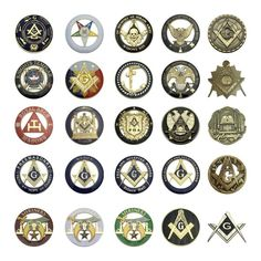 """Masonic Value Pack of 3 Emblems 3/""""Masters 3/""""knight Templar 2.75 32ND Degree AE"""