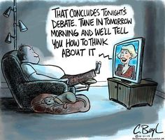 That concludes tonight's debate. Tune in tomorrow and we'll tell you how to think about it.