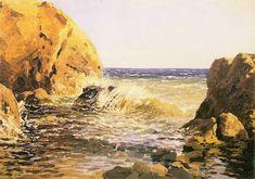 Ferdynand Ruszczyc - Morze i skały, 1895