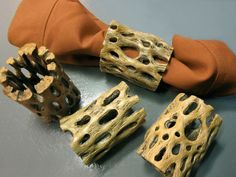 Cholla Wood Napkin Rings  4pc Set by theDesertStop on Etsy, $12.00