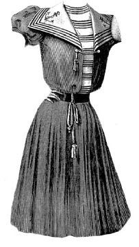 victorian era bathing suit | 1898 Dark Blue Serge Bathing Suit Pattern
