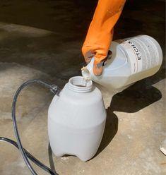How to Epoxy Coat a Garage Floor - Plank and Pillow Epoxy Garage Floor Paint, Garage Floor Coatings, Epoxy Floor, Five Gallon Bucket, Epoxy Coating, Garage Makeover, Plank Flooring, Garage Organization, Home Repair