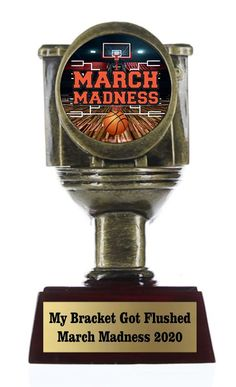 Basketball Trophies, Bracket Challenge, Trophy Engraving, Star Trophy, Recognition Awards, Tank You, Toilet Bowl, March Madness, Custom Boxes