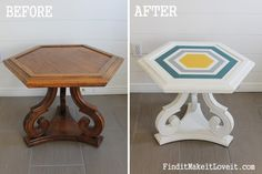 DIY Chalk Paint-Hex table!