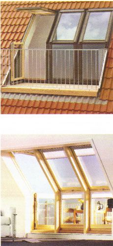 A Velux roof terrace is a unique solution to a loft conversion providing light and a terrace area.
