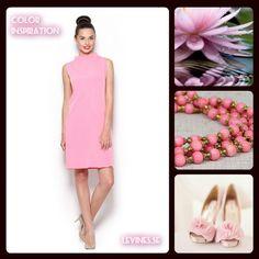 Färginspiration <3  Vad tycker Du om den rosa klänningen?  www.levines.se/klader/klanningar/lusrosa-klanning.html