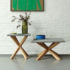 West elm coffee table, end table