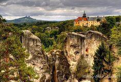 Český ráj - Hrubá Skála Prague, Czech Republic, Places To See, Beautiful Places, To Go, Castles, Mountains, Landscape, Manor Houses