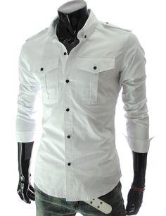 Simple white dress shirt