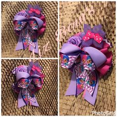 Ribbon bows Boutique ponytail Boutique Bows, Ribbon Bows, Burlap Wreath, Ponytail, Wreaths, Decor, Decoration, Door Wreaths, Pony Tails