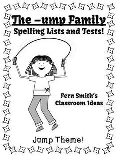 Spelling The -ump Family Word Work Lists & Tests #TPT $Paid #TeachersFollowTeachers #FernSmithsClassroomIdeas