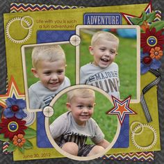 Life With You Is An Adventure - Scrapbook.com    Like the layout but not the paper.