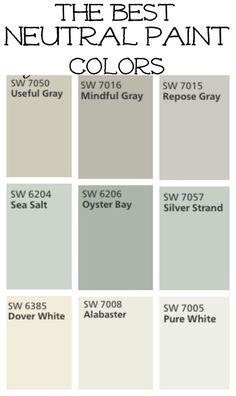 The Best Neutral Paint Colors #livingwall