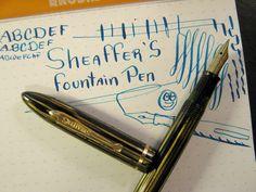 vtg Sheaffer Balance X Fine some Flex 14K Nib Long Taper Fountain Pen Gold Trim #Sheaffer