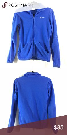 Nike blue therma-fit jacket Good condition. Bundle 3+ from me and save 15%, only pay shipping ONCE, and get a free gift! Nike Jackets & Coats