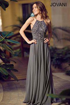 Jovani Beaded Adorned Chiffon Gown 92605 http://www.jovani.com/prom-dresses/beaded-adorned-chiffon-gown-92605