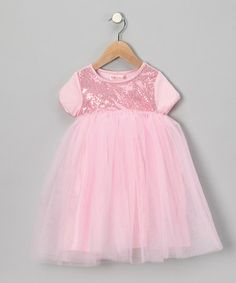 Take a look at this Baby Lulu Pink Sequin Dress - Infant & Toddler by Special Occasions: Kids' Apparel on #zulily today!