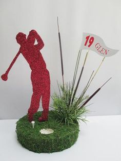 Sports Table Centerpieces for all sports Golf Table Decorations, Sports Banquet Centerpieces, Sports Centerpieces, Birthday Centerpieces, Table Centerpieces, 50th Birthday Themes, 65th Birthday, Golf Tournament Gifts, Golf Wedding