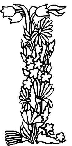 coloring page Alphabet Flowers Kids-n-Fun