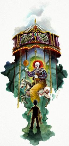 Exhibit at comic-con Horror Genesis is a painting series made by talented french illustrator Jeremy Pailler. Through these 18 horrific but beautiful compo Scary Movie Characters, Scary Movies, Horror Movies, Horror Villains, Le Clown, Creepy Clown, Horror Icons, Horror Art, Pennywise The Dancing Clown