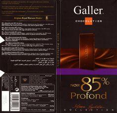 tablette de chocolat noir dégustation galler noir profond 85