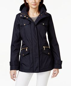 MICHAEL Michael Kors Hooded Anorak Jacket - Coats - Women - Macy's