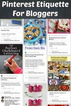 Pinterest Etiquette for Bloggers
