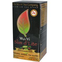 Wu-Yi Tea, Slim D' Lite, Natural Herbal Tea Blend, Strawberry Kiwi, 25 Tea Bags, 1.8 oz (50 g) - iHerb.com. Bruk gjerne rabattkoden min (CEC956) hvis du vil handle på iHerb for første gang. Da får du $5 i rabatt på din første ordre (eller $10 om du handler for over $40), og jeg blir kjempeglad, siden jeg får poeng som jeg kan handle for på iHerb. :-)
