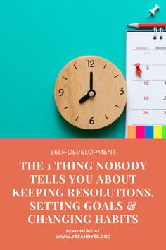 I wish everyone knew this piece of goal-setting advice! If you want to change your habits or keep your resolutions, this tip is for you!